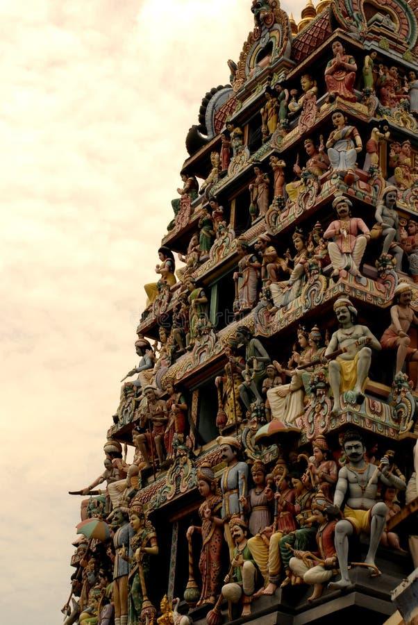 印第安雕象寺庙 图库摄影
