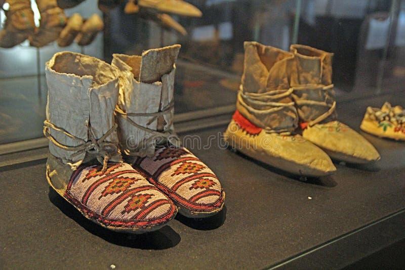 印第安鞋子 库存照片