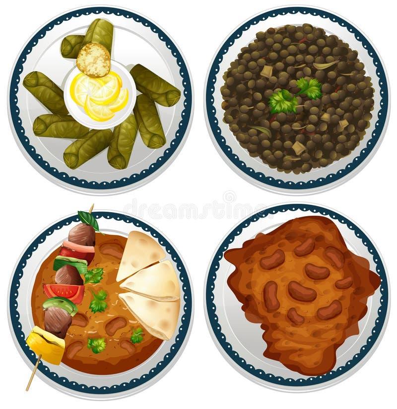 印第安食物 皇族释放例证