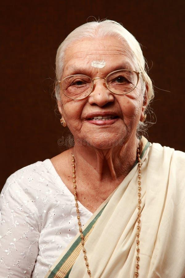 印第安高级妇女 图库摄影