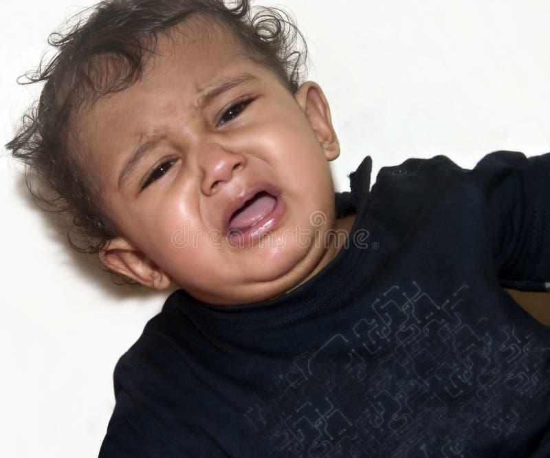 印第安婴孩哭泣 免版税库存图片