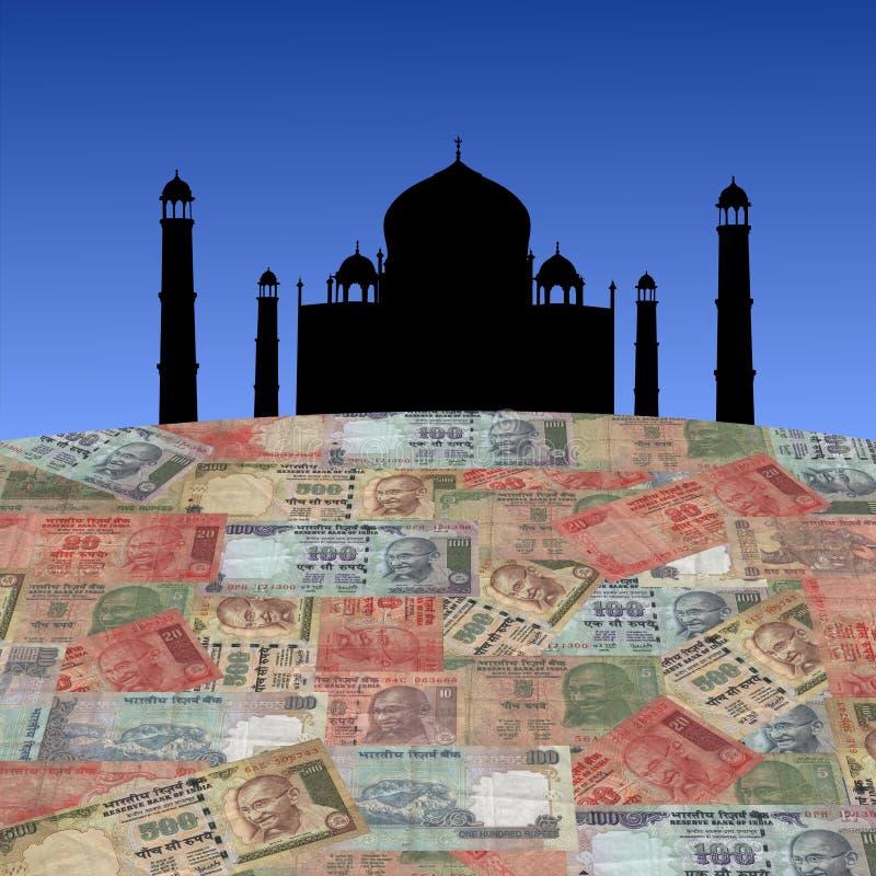 印第安mahal卢比taj 库存例证