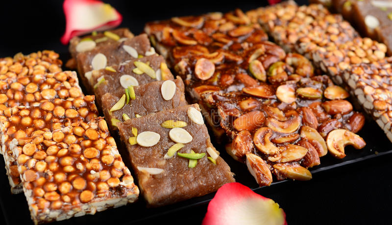 印第安mithai甜点 图库摄影