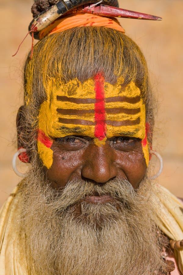 印第安sadhu (圣洁者) 图库摄影