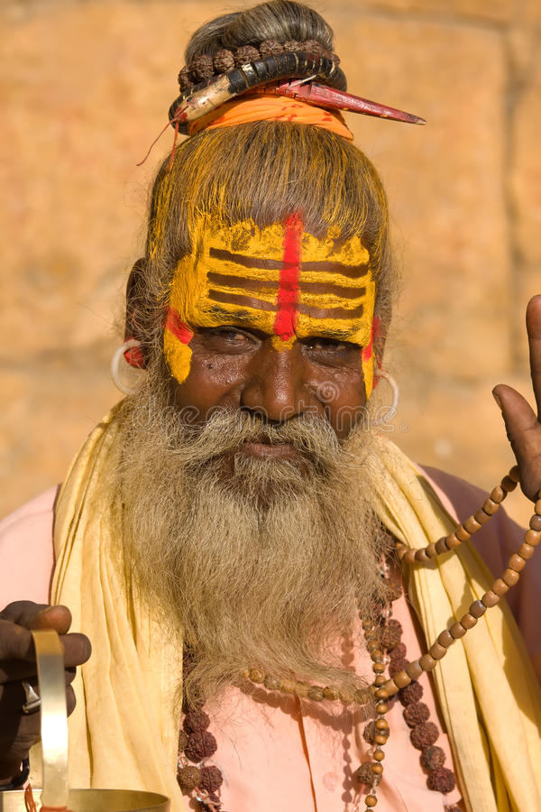 印第安sadhu (圣洁者) 免版税库存照片