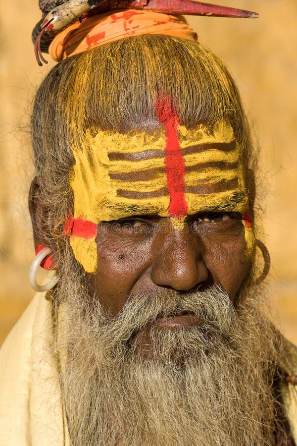 印第安sadhu (圣洁者) 免版税库存图片