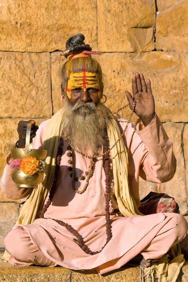 印第安sadhu (圣洁者) 库存图片