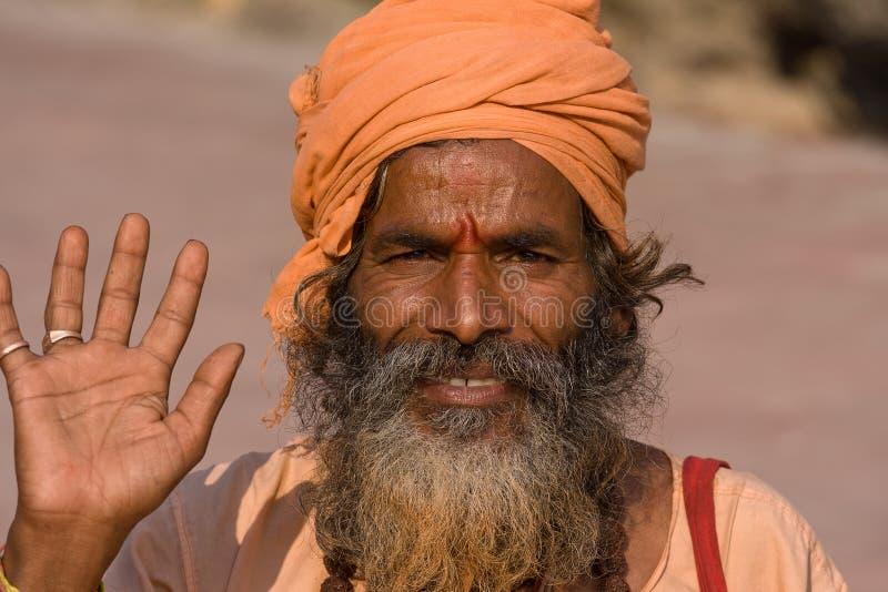 印第安sadhu 免版税库存照片