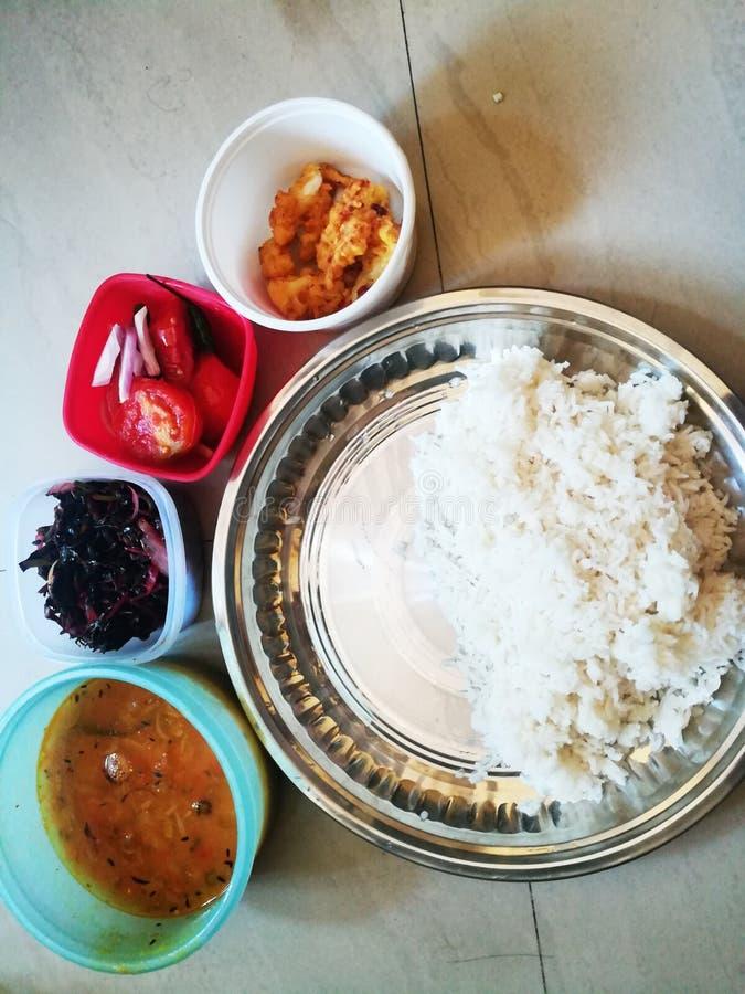 印第安veg thali 免版税库存图片