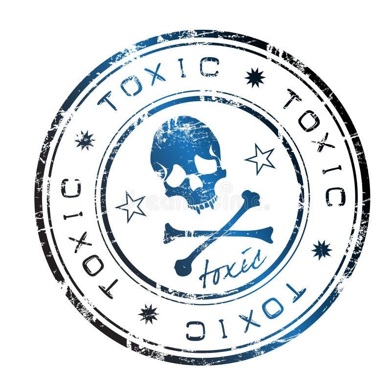 印花税含毒物 向量例证