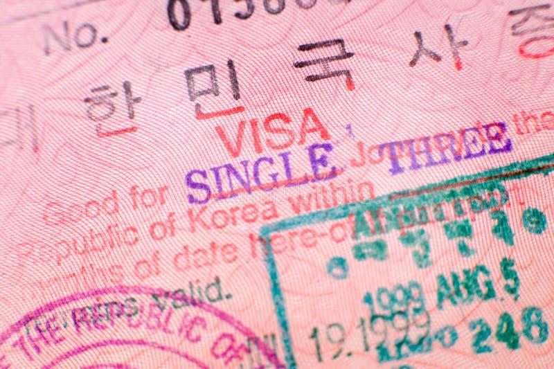 印花税签证 免版税库存照片