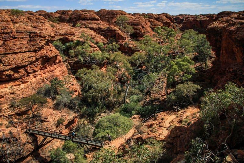 印象深刻的国王的Canyon,北方领土,澳大利亚 免版税图库摄影