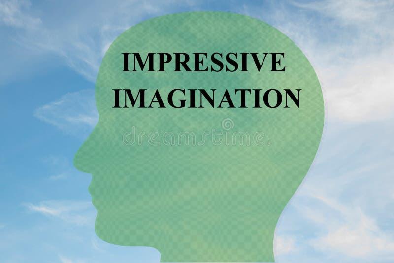 印象深刻的想象力概念 向量例证