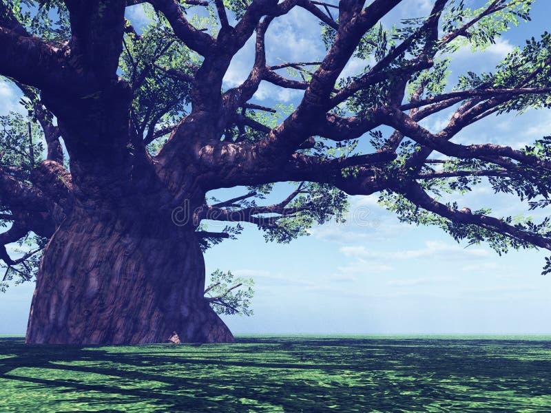印象深刻的猴面包树 向量例证