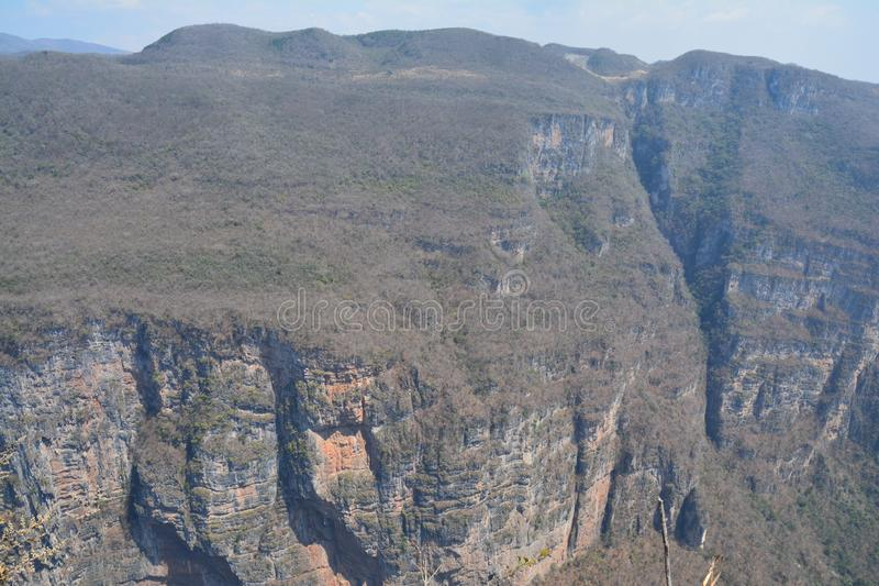 印象深刻的苏米德罗峡谷在恰帕斯州墨西哥 库存照片