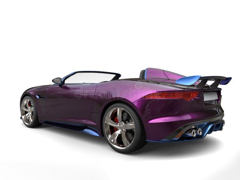 印象深刻的现代超级跑车,金属紫色和蓝色油漆 皇族释放例证