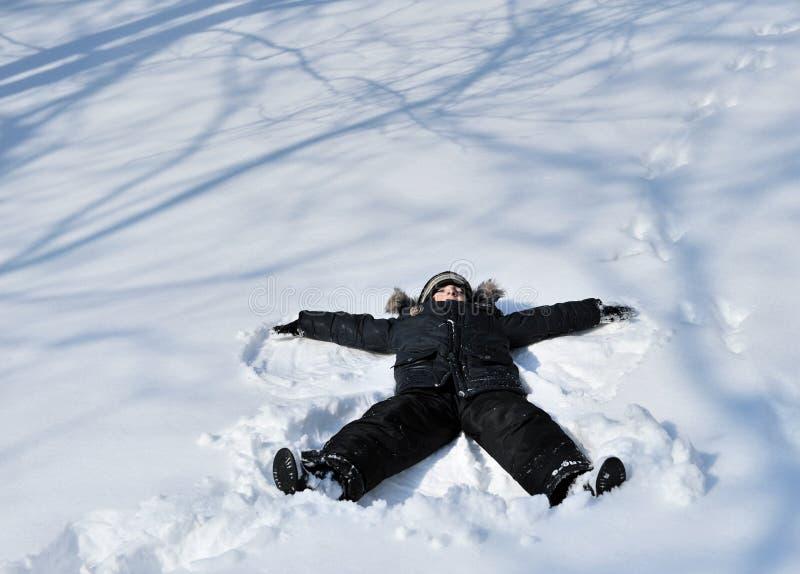 印snowangel 免版税图库摄影