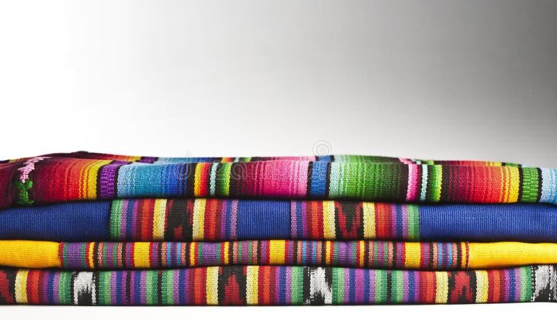危地马拉五颜六色的织品 免版税库存图片