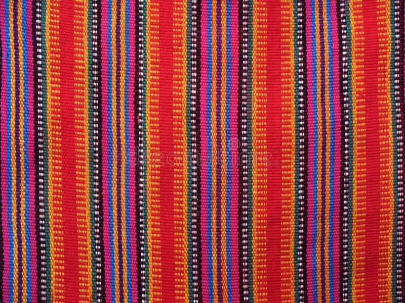 危地马拉五颜六色的织品 免版税库存照片