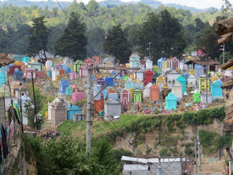 危地马拉公墓 免版税库存照片