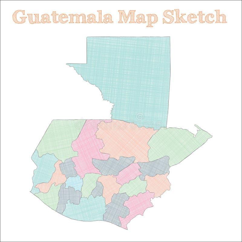 危地马拉地图 皇族释放例证