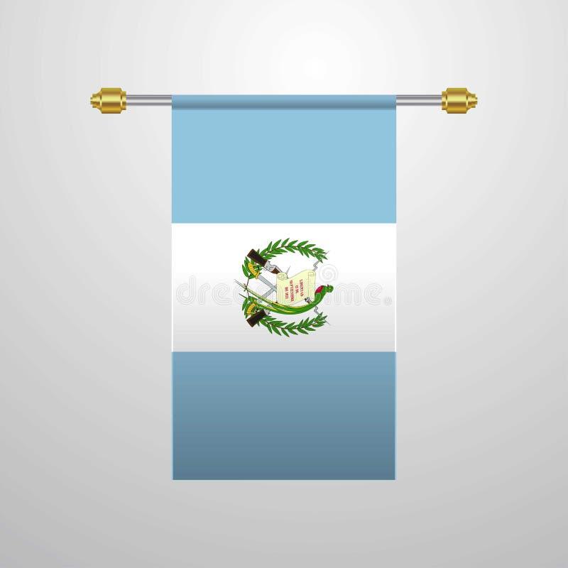 危地马拉垂悬的旗子 向量例证