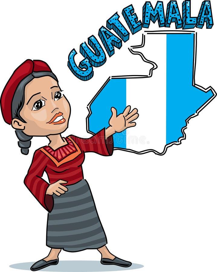 危地马拉妇女 皇族释放例证