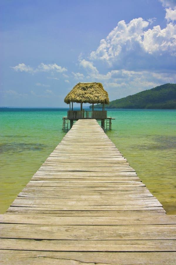 危地马拉小屋码头 库存照片
