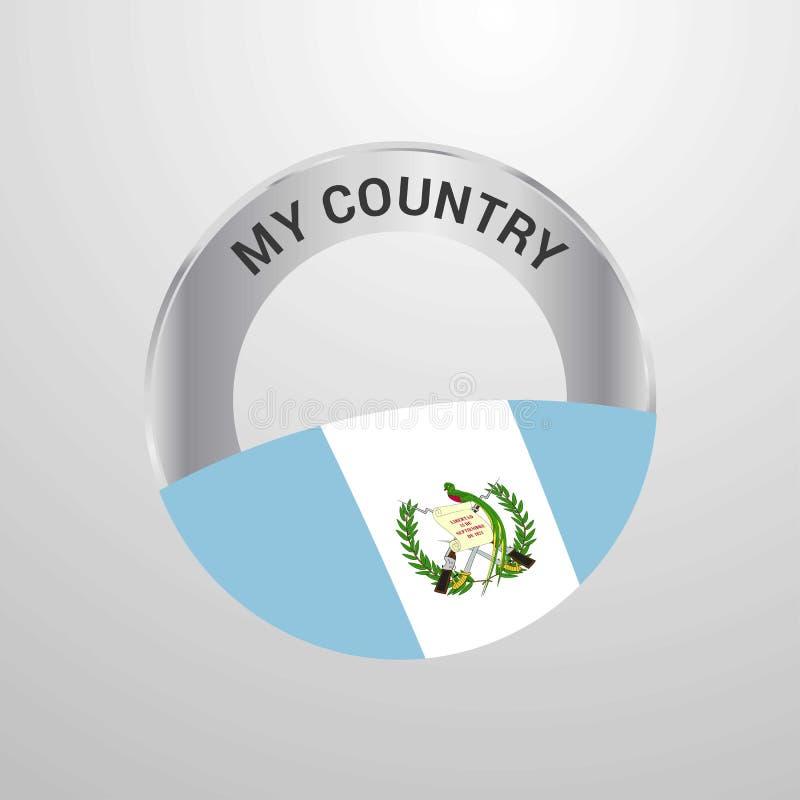 危地马拉我的国旗徽章 库存例证