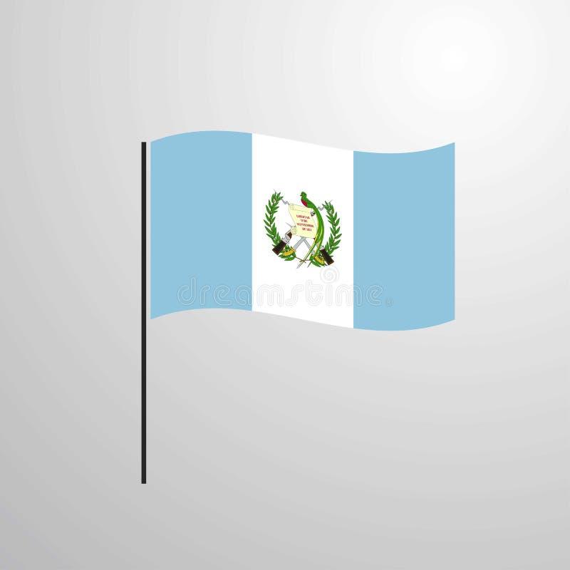 危地马拉挥动的旗子 向量例证