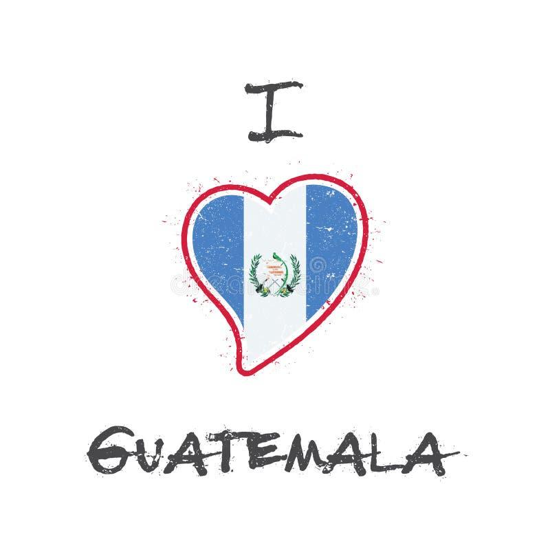 危地马拉旗子爱国T恤杉设计 向量例证