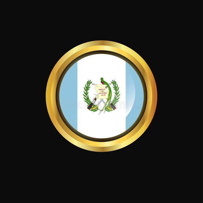 危地马拉旗子金钮扣 皇族释放例证