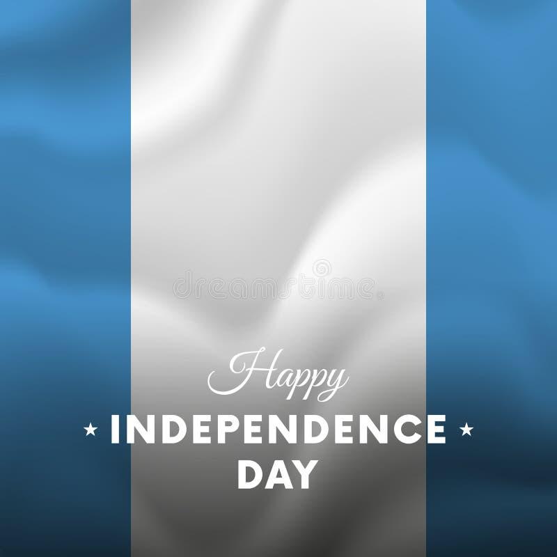 危地马拉独立日庆祝横幅或海报  向量 向量例证