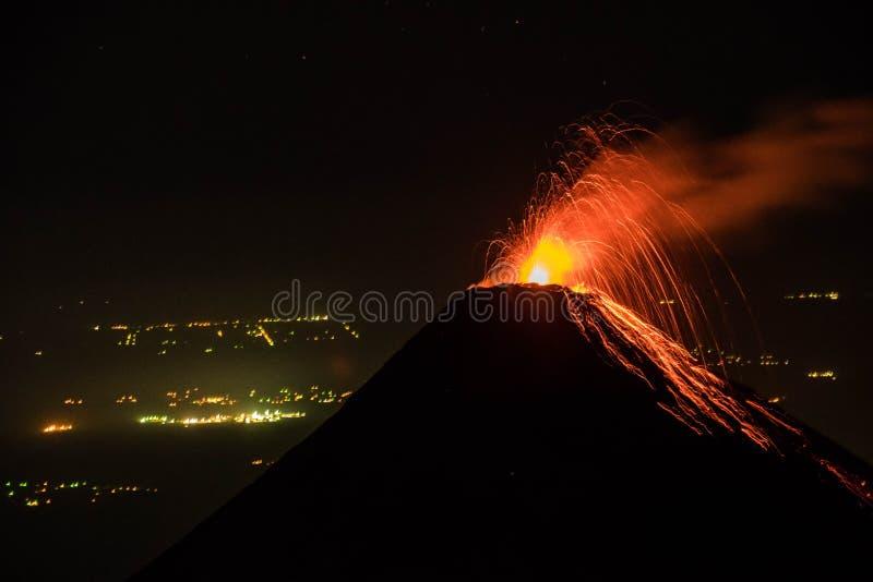 危地马拉的火山 库存图片