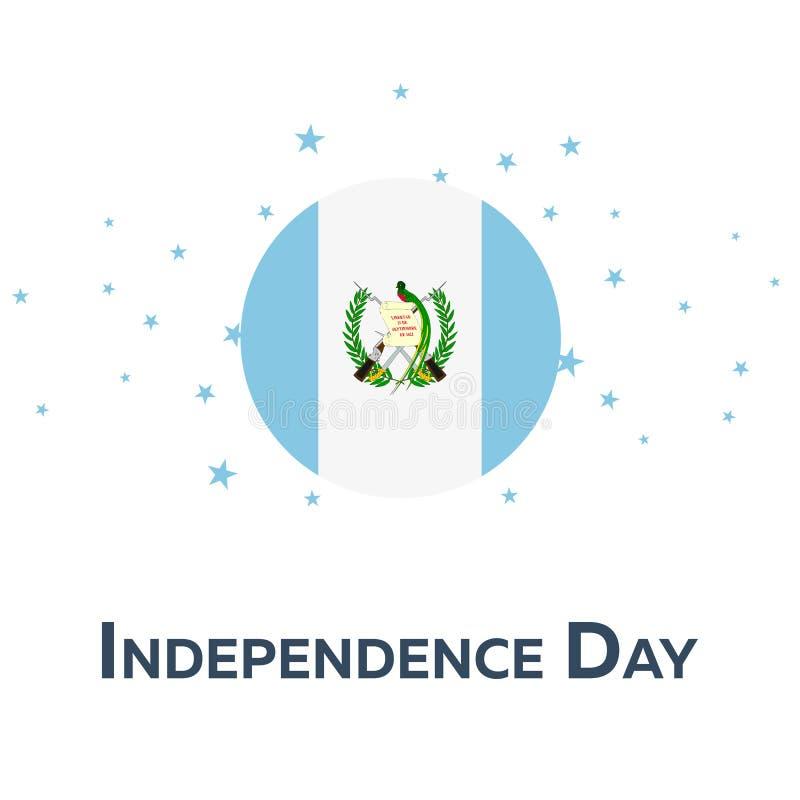 危地马拉的独立日 爱国的横幅 也corel凹道例证向量 皇族释放例证