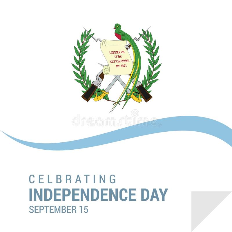 危地马拉美国独立日爱国设计 皇族释放例证
