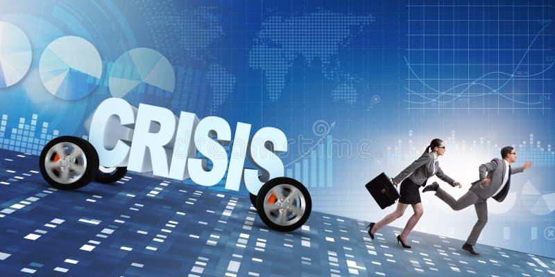 危机和后退的企业概念 向量例证