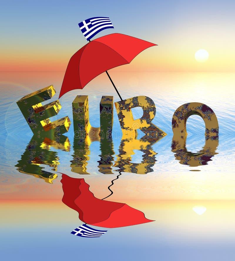 危机欧元 向量例证