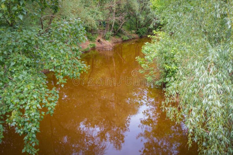 危机生态学环境照片污染 红河在扎波罗热