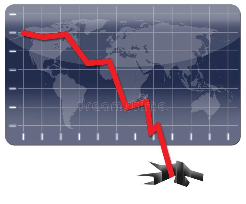 危机经济全球 库存例证
