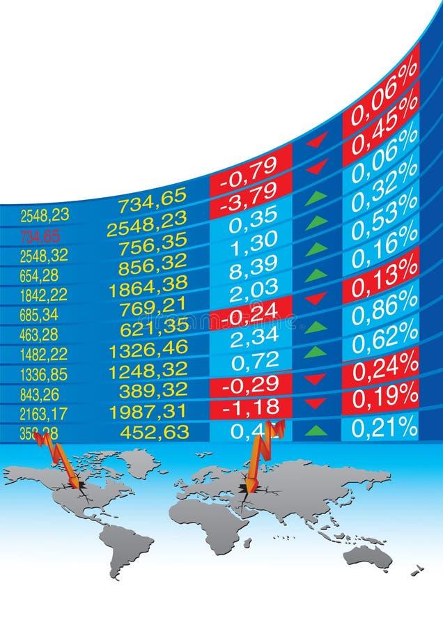 危机经济全球 向量例证