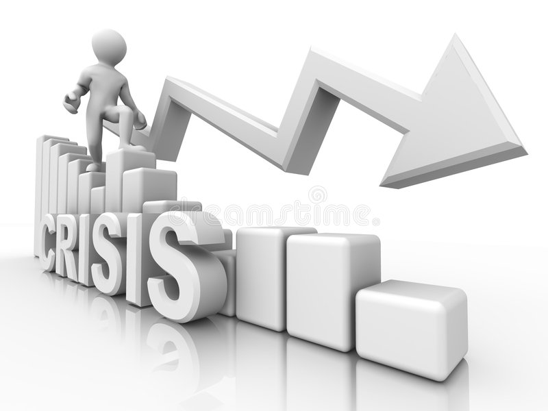 危机绘制人 向量例证