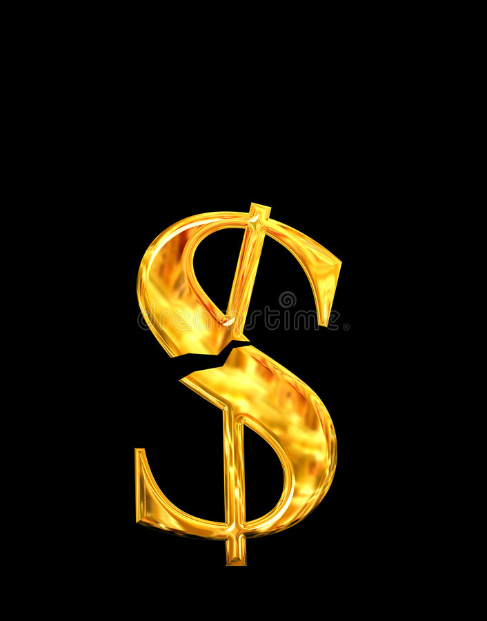 危机美元 向量例证