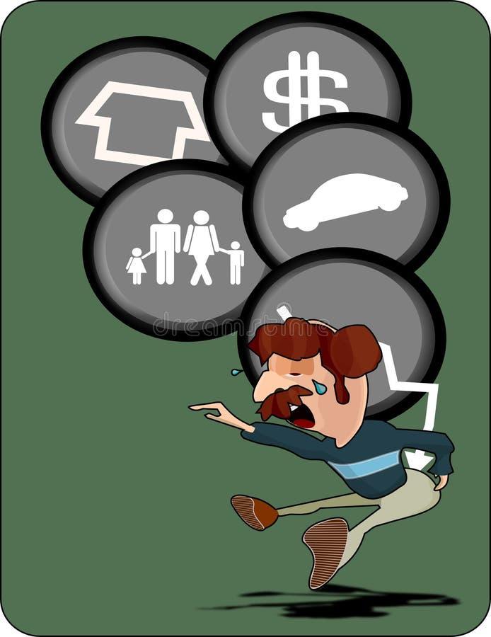 危机负债财务例证贷款 皇族释放例证