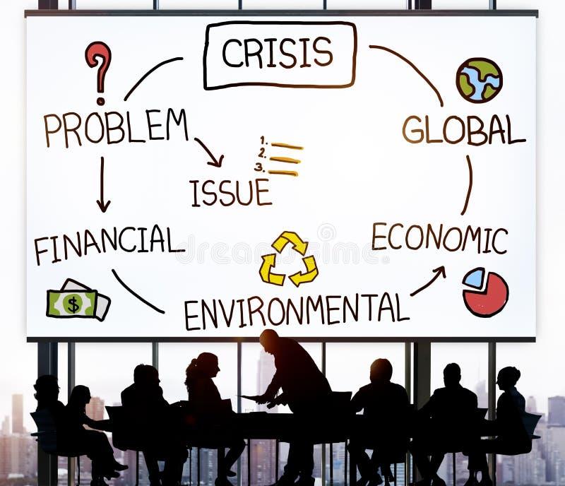 危机经济环境财务全球性概念 免版税库存照片