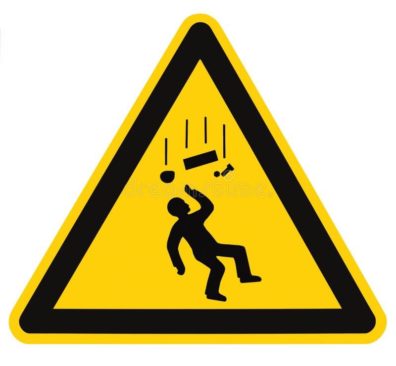 危险下跌的查出的宏指令反对符号警&# 免版税图库摄影