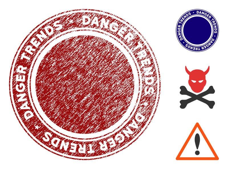 危险与困厄纹理的趋向邮票 皇族释放例证