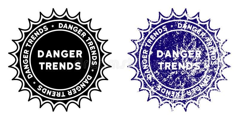 危险与困厄表面的趋向邮票 库存例证