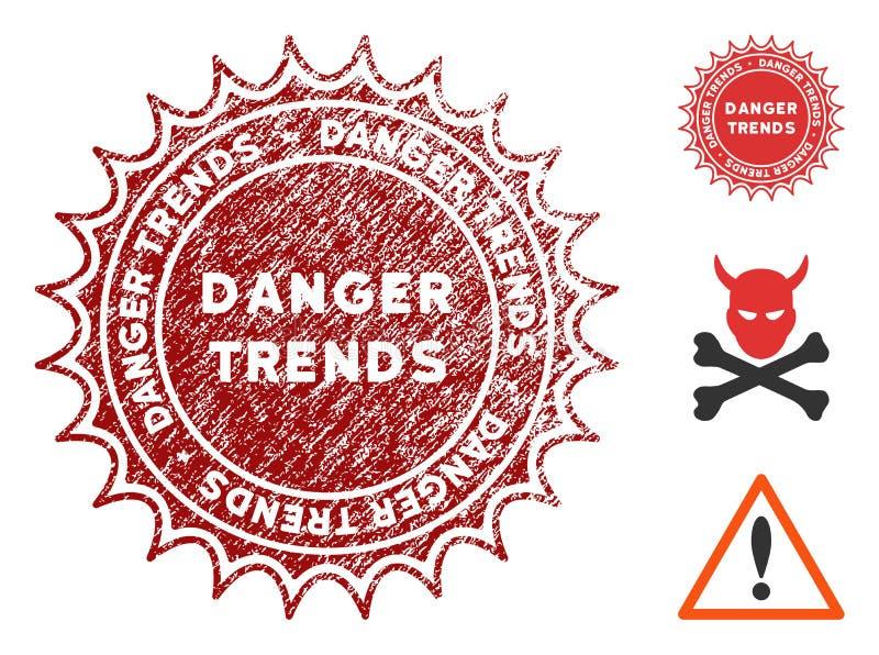 危险与被抓的作用的趋向邮票 皇族释放例证