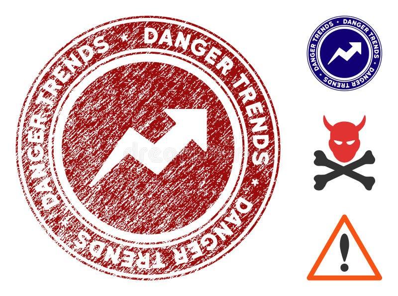 危险与难看的东西作用的趋向邮票 皇族释放例证